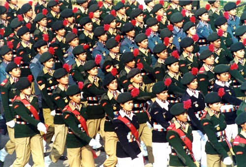 During The Republic Day Parade - January, 2003.
