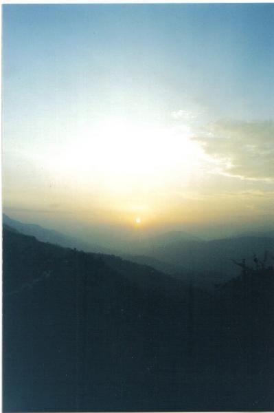 Sunset in Nepal....