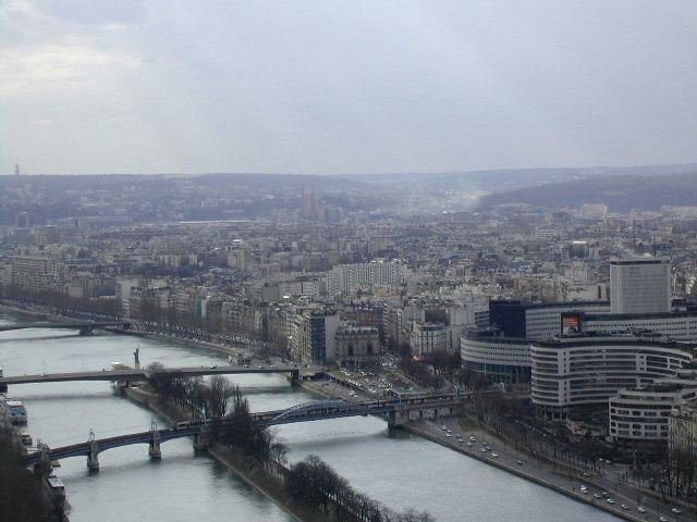 A view from Eiffel-Tower