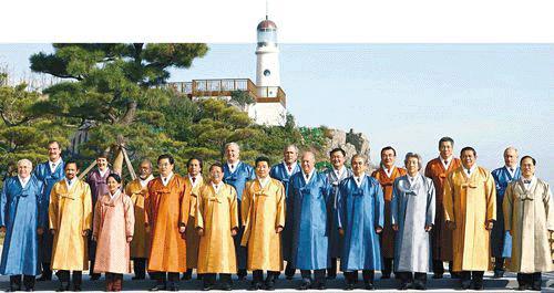APEC summit 2005, Leader in HANBOK dress 2