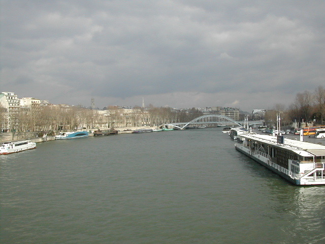 Seine River in center Paris