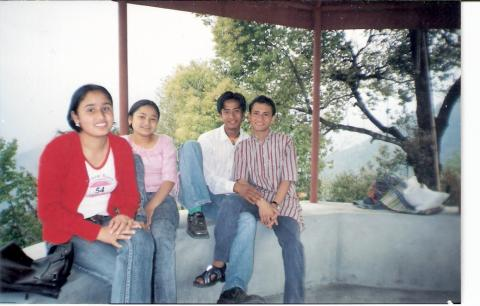 With Friends Rishi, Sonam, Tripti in Sombaria